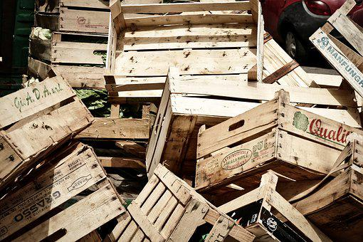 Boxes, Market, Fruit, Wooden Boxes, Farmer's Market