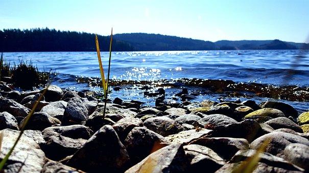 View, Lake, Sea, Rocks, Nature, Beach, Seashore