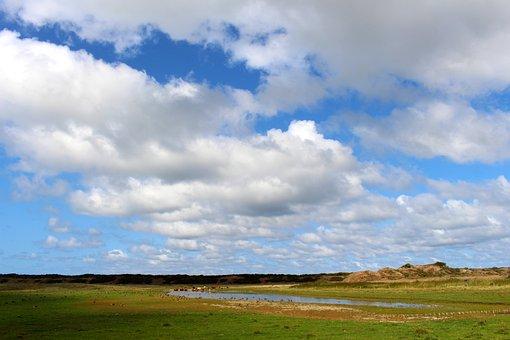 Landscape, Langeoog, Nature, Sky, Coast, North Sea
