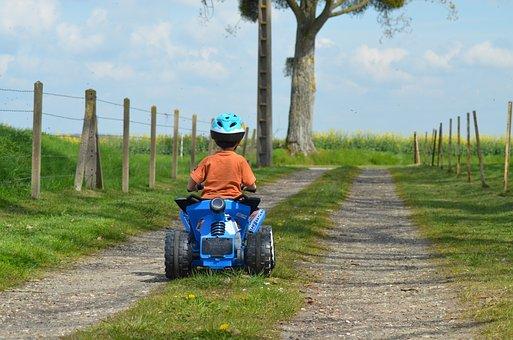 Child, Quad, Outdoor Games, Hobbies, Happy, Boy
