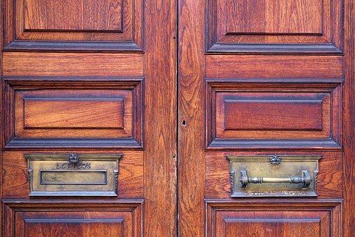 Door, Mailbox, Wood, Grain, Structure, Input, Post