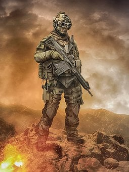 Soldier, Gun, Army, Military, War, Rifle, Camouflage