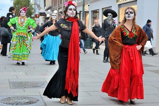 Mexican, Festival, Culture, Traditional, Dead, Skull