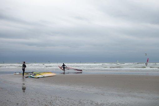 Surf, Windsurf, Beach, Sea, Noordwijk, Surfer, Wind