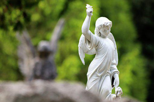 Angels, Sculpture, White Marble, Cemetery Mirogoj