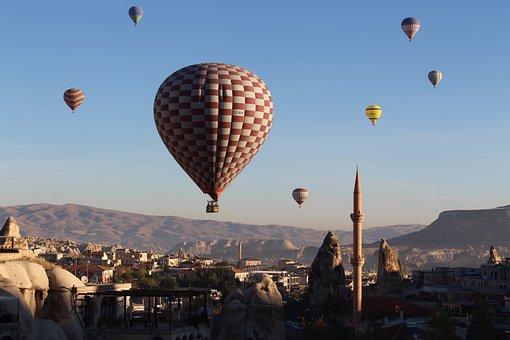 Hot Air Balloon, Cappadocia, Turkey, Balloon, Landscape