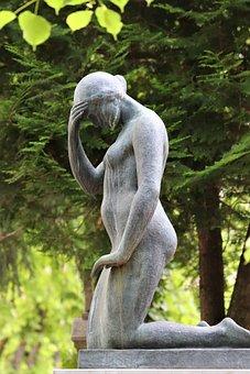 Woman, Sculpture, Monument, Cemetery Mirogoj, Zagreb