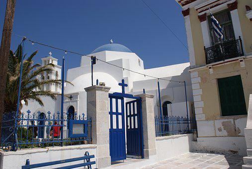 Church, Greece, Cross, Cyclades, Aegean