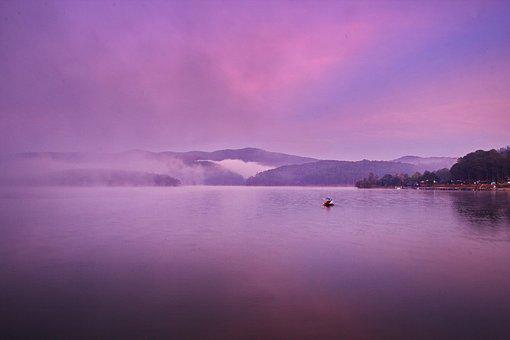Dalat, Vietnam, Da Lat, Purple, Pink, Sky, Landscape