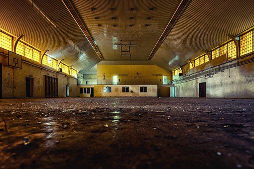 Hall, Gym, Lost Places, Sport, Abandoned, Transience