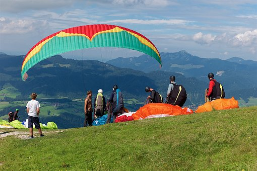 Paragliding, Sky, Paraglider, Adventure, Mountains