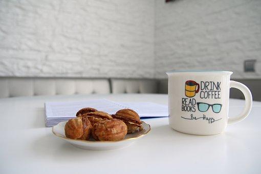 Mug, Happy, Book, Morning, White, Beverage, Hot, Read