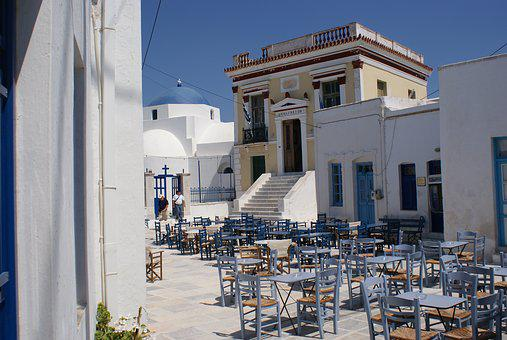 Town Hall, Cyclades, Greece, Sea, Architecture