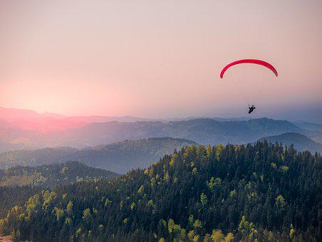 Paragliding, Black Forest, Flying, Freedom, Blue, Sky