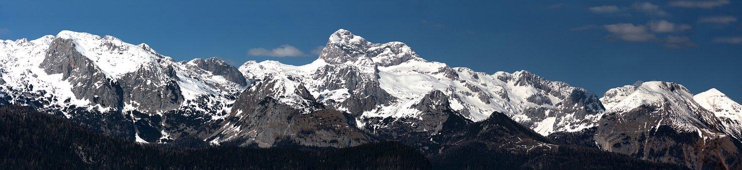 Slovenia, Mountains, Triglav, Peak, Snow, Sky, Blue