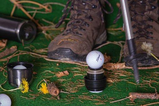 Golf, Hiking, Sport, Hiking Shoes, Walking Stick