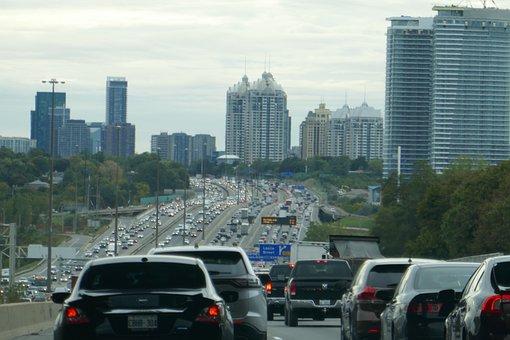 Toronto, Traffic, Canada, Auto, Traffic In Toronto