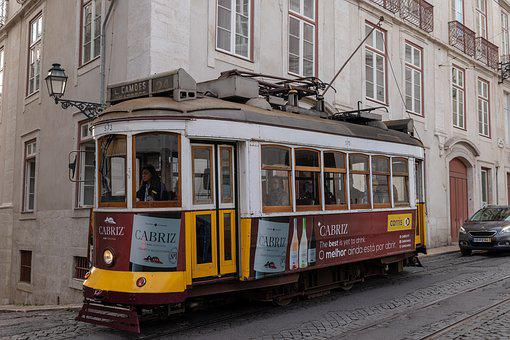 Lisbon, Tram, City, Traffic, Historically, Transport