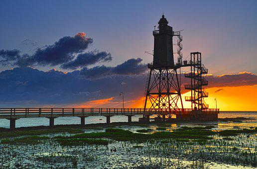 Lighthouse, Upper Shipping, Watts, North Sea