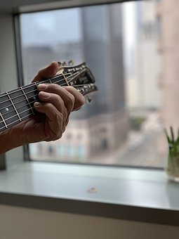 Guitar, Music, City Life, Urban, City, Style, Downtown