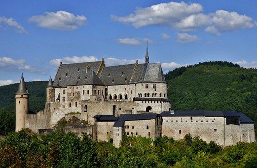 Castle Bourscheid, Vianden, Luxembourg, Castle