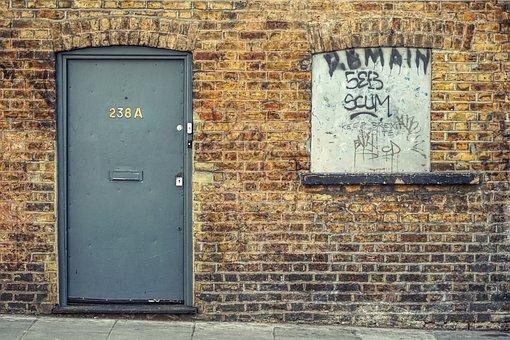 Door, Wall, Brick, House, Input, Frame, Door Opening