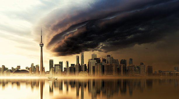 Weather Phenomenon, Forward, Toronto, Skyline, Canada