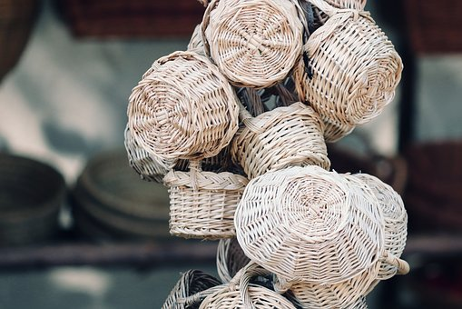 Wicker, Willow Basket, Hand Labor, Craft, Woven, Weave