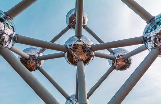 Atomium, Belgium, Architecture, Atom, Landmark, Travel