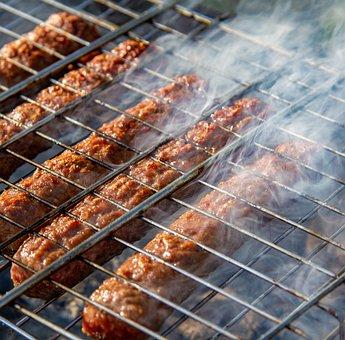 Sausages, Cevapcici, Smoke, Coals, Burn, Firewood
