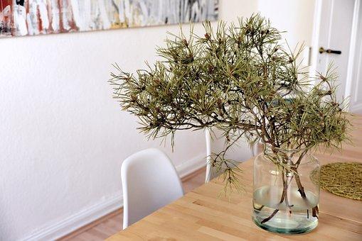 Table, Vase, Flower Vase, Chairs, Room, Live, Design