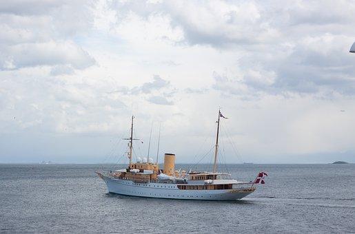 Dannebrog, The Queen's, Ship, Water, Transport, Sea