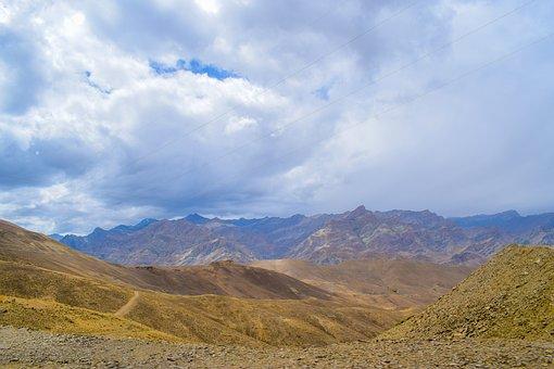 Mountains, Cold Desert, Lands, Landscape, Desert