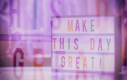 Make The Day Great, Double Exposure, Motivation