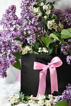 Lilac, Arrangement, Flowers, Spring, Lilac Bush, Gift