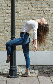 Girl, Keeping, Pose, Style, Model, Hair, Move, Woman