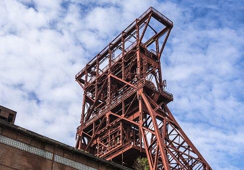 Headframe, Bill, Ruhr Area, Mining, Industry, Mine