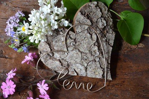 Heart, Love, Valentine's Day, Symbol, Wood, Flowers