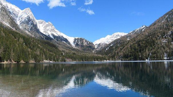Antholzer, See, Lake, Anterselva, South, Tyrol, High