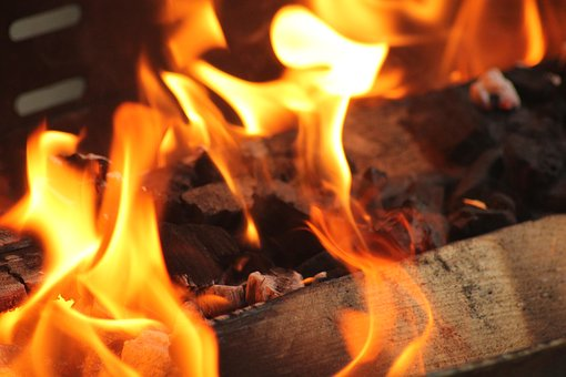 Barbecue, Fire, Wood, Flames, Incandescent, Ember, Glow