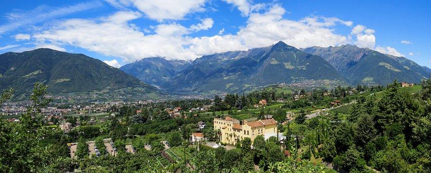 Travel, Landscape, Mountains, South Tyrol, Meran