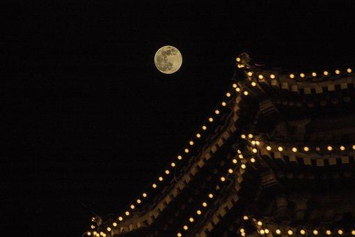 Tower, Moon, Sky, Night, Moonlight, Atmosphere