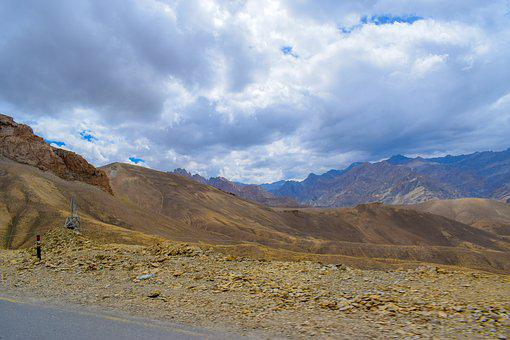 Mountains, Cold Desert, Lands, Landscape, Desert