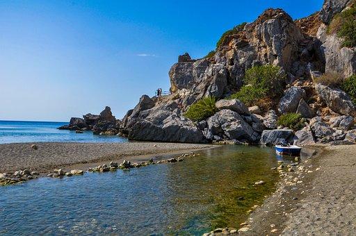 Crete, Greece, Beach, Sea, Nature
