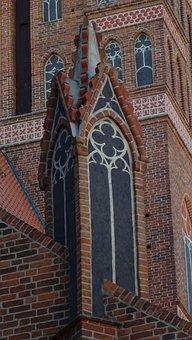 Architecture, Gothic, Brick, Turret, Ornament, Form