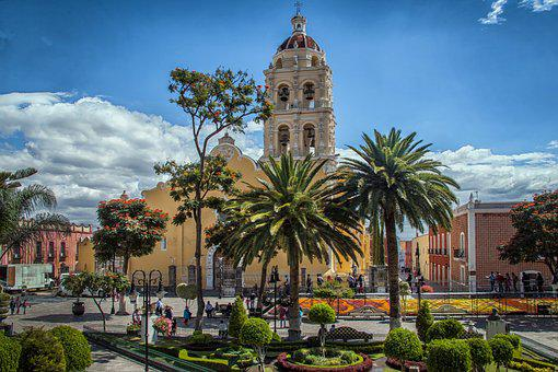 Mexico, Travel, Puebla, Atlixco, City, Palm Trees