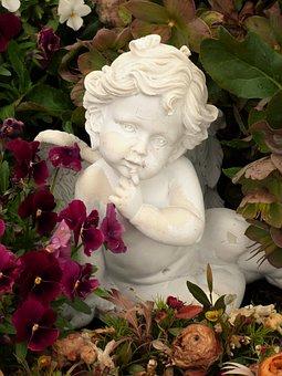 Angel, Garden, Sculpture, Statue, Figure, Woman