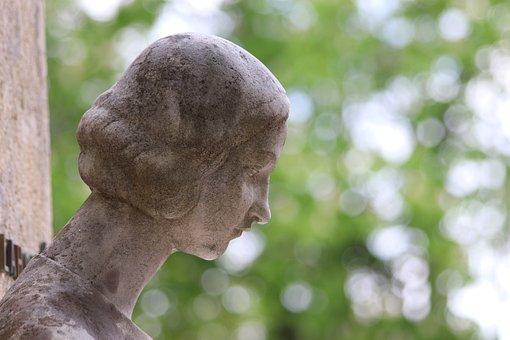 Woman, Head, Sculpture, Cemetery Mirogoj, Zagreb