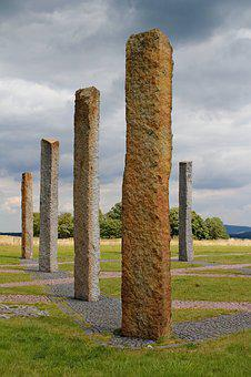 Columns, Granite, Star, Stone, The Cabal, Statue