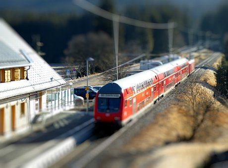 Train, Railway Station, Black Forest, Feldberg
